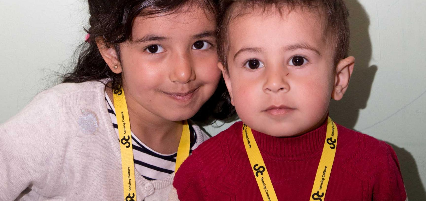 Children at family day